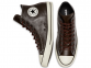 All Star Tumbled Leather Brown High Top 2