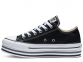 All Star Black Platform Low Top 1