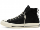 Chuck 70 Nubuck Leather Black High Top 1