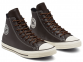 All Star Tumbled Leather Brown High Top 0