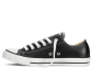 All Star Black Leather Low 0