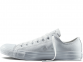 All Star White Mono Leather Low 1