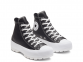 All Star Lugged Leather Black Hi Top 1