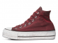 All Star Canvas Rust Platform High Top 2