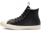 All Star Desert Storm Black Leather High Top 1