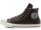 All Star Tumbled Leather Brown High Top 1