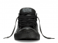 All Star Black Mono Leather Low 1