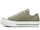 All Star Platform Olive Low-Top 1