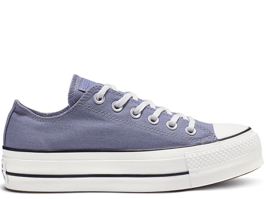 All Star Platform Blue Low-Top