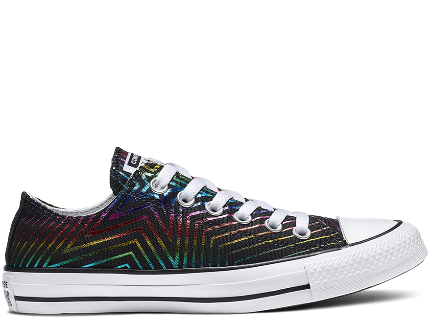 All Star Exploding Star Black Low Top