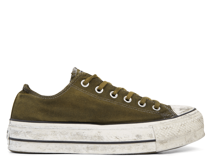 All Star Canvas Rust Platform Low Top