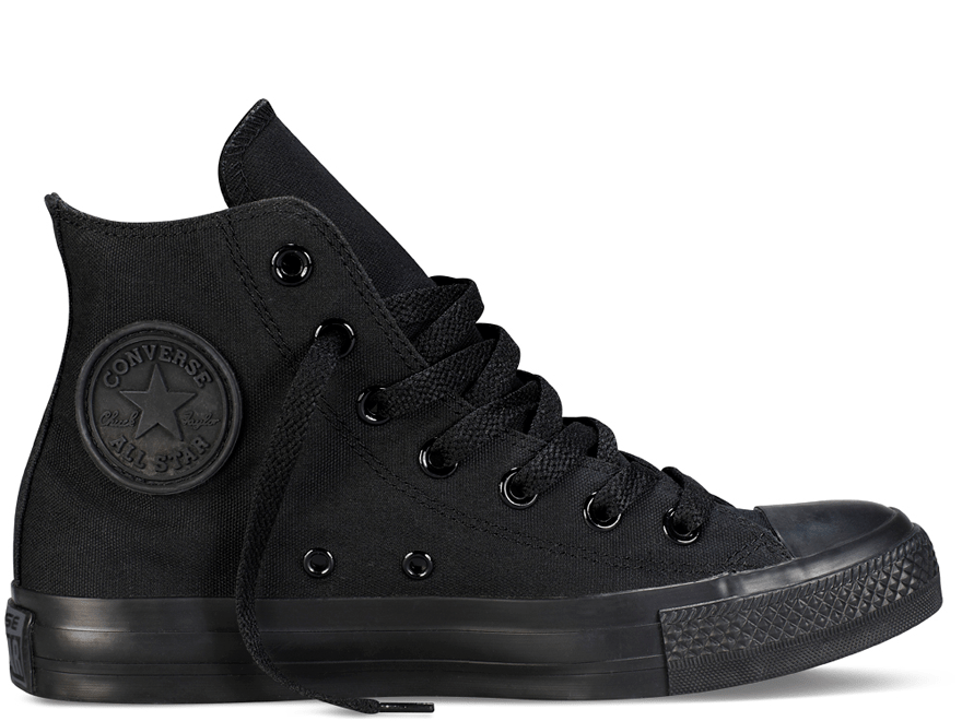 All Star Black Monochrome High