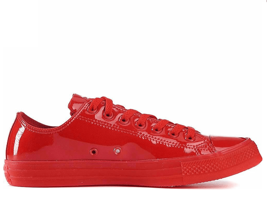 All Star Patent Ice Red Low