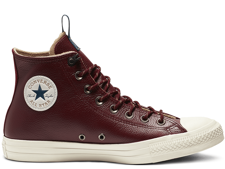All Star Desert Storm Brown Leather High Top