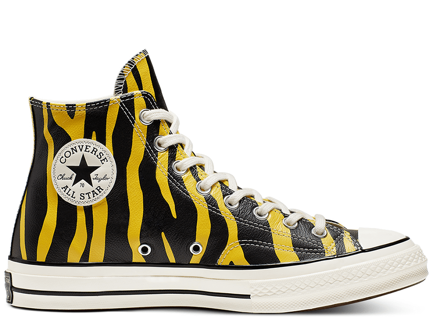 Chuck 70 Unisex Leather Archive Prints High Top