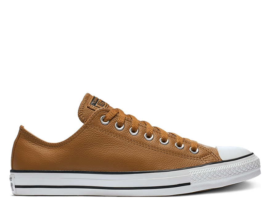 All Star Leather Brown Low Top