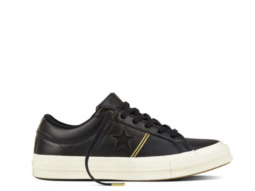 One Star Leather Black Low