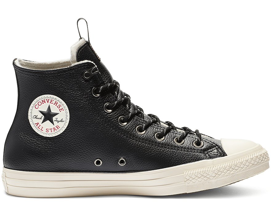 All Star Desert Storm Black Leather High Top
