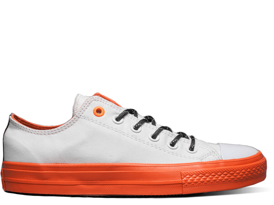 Cons White&Orange Low Top