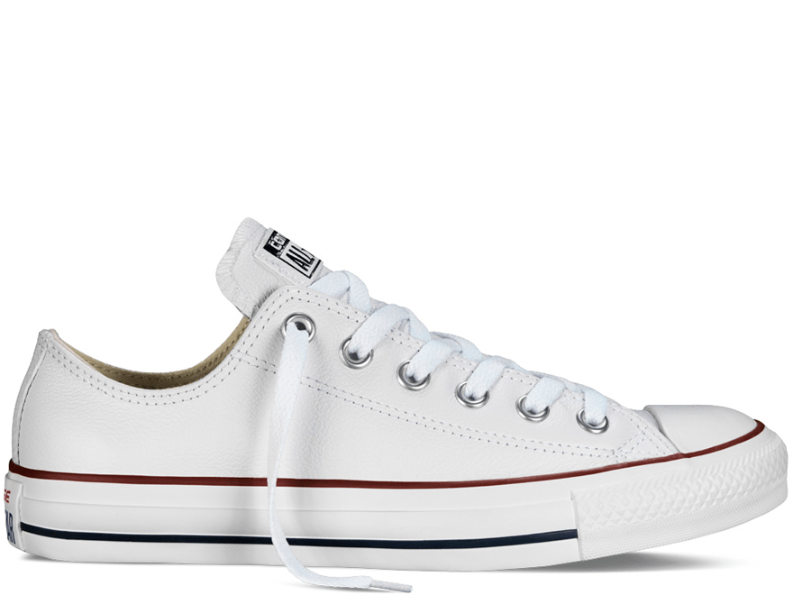 All Star Optical White Leather Low