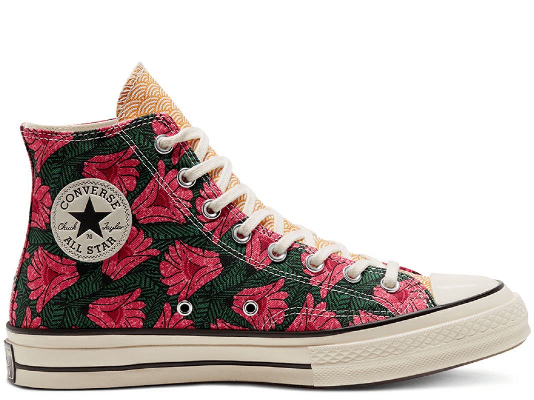Chuck 70 Unisex Culture Weave Flowers High Top