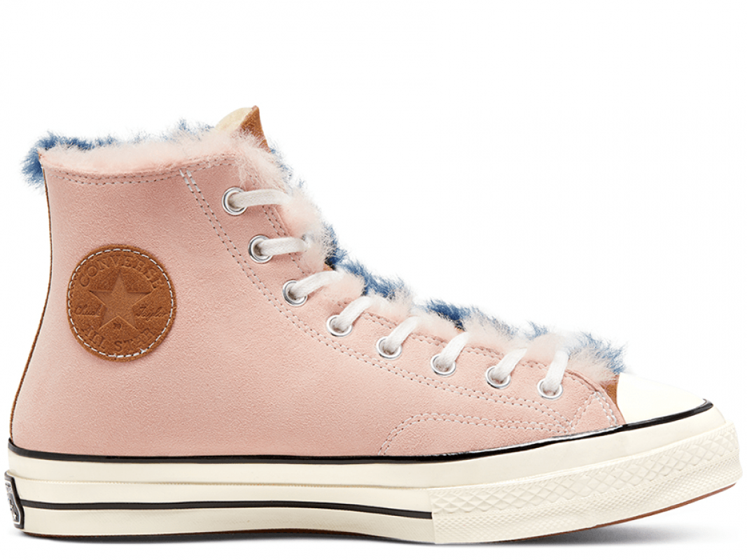 Chuck 70 Shearling Pink Hi Top