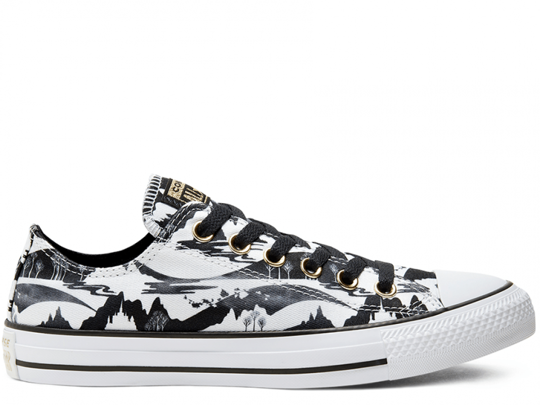 Frozen 2 Chuck Taylor All Star Black&White
