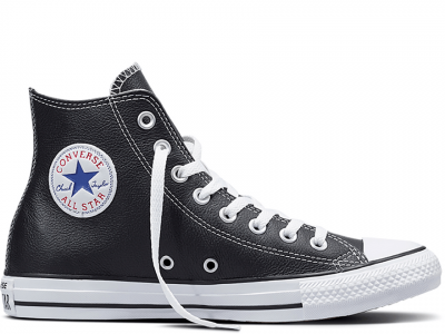 All Star Black Leather High
