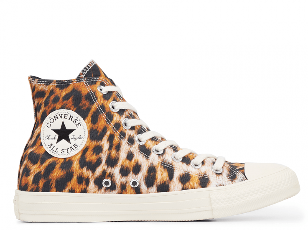 All Star Wild Print Leopard High-Top