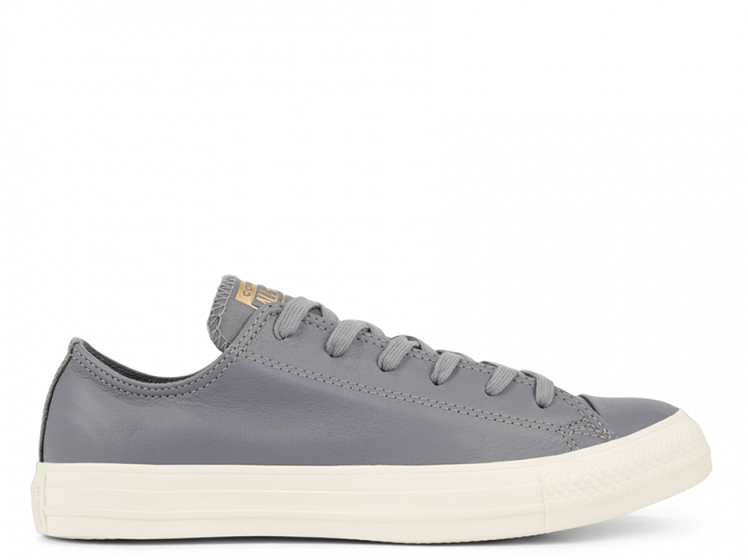 All Star Minimalism Leather Grey Low-Top
