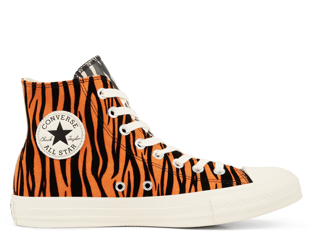 All Star Animal Print Suede High Top