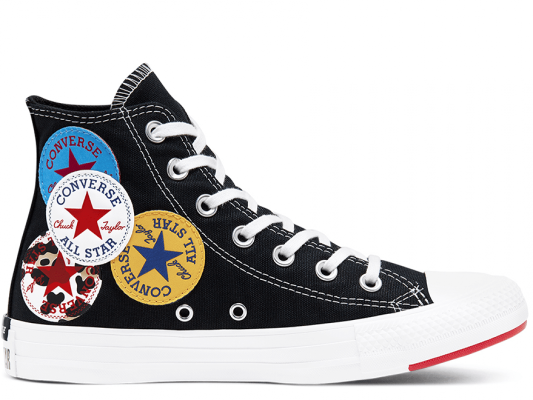 Unisex Logo Play Chuck Taylor All Star Black High Top