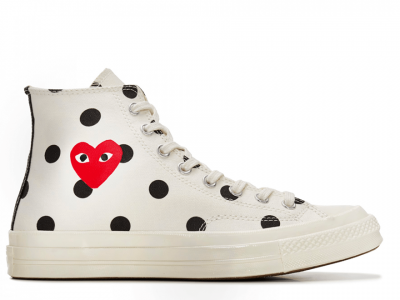 CDG Polka Dot White High