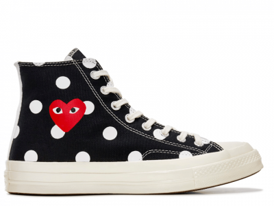 CDG Polka Dot Black High