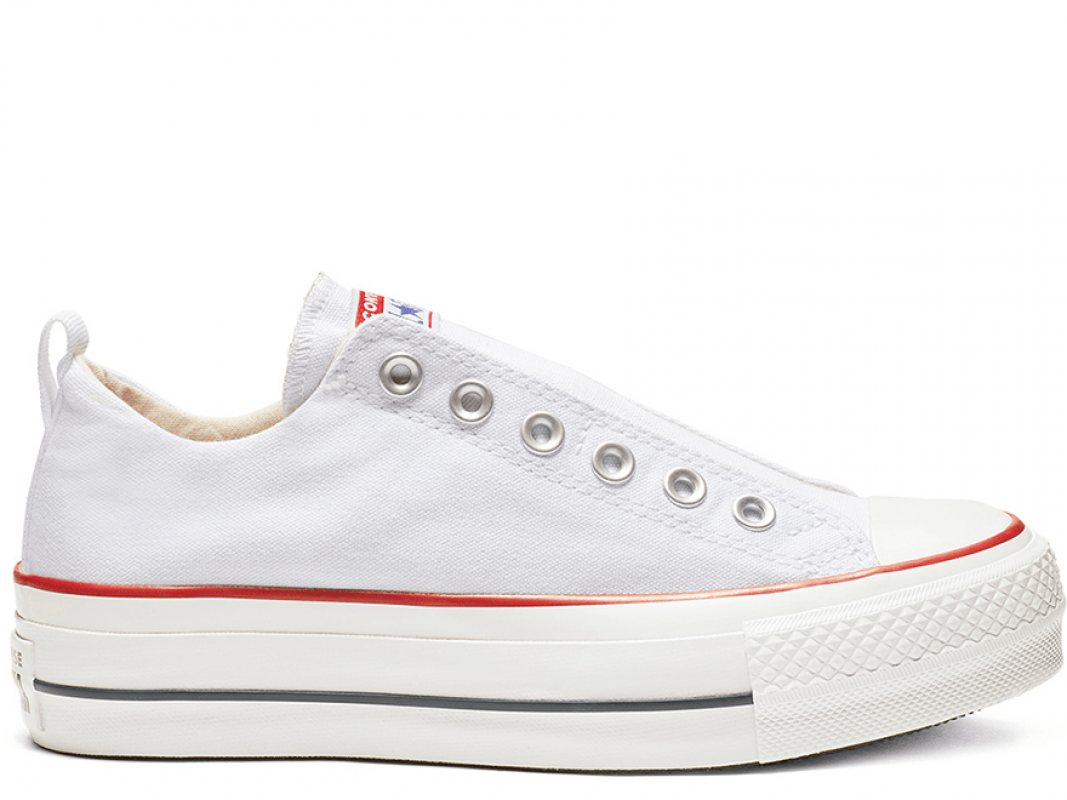 All Star Platform White Low Top