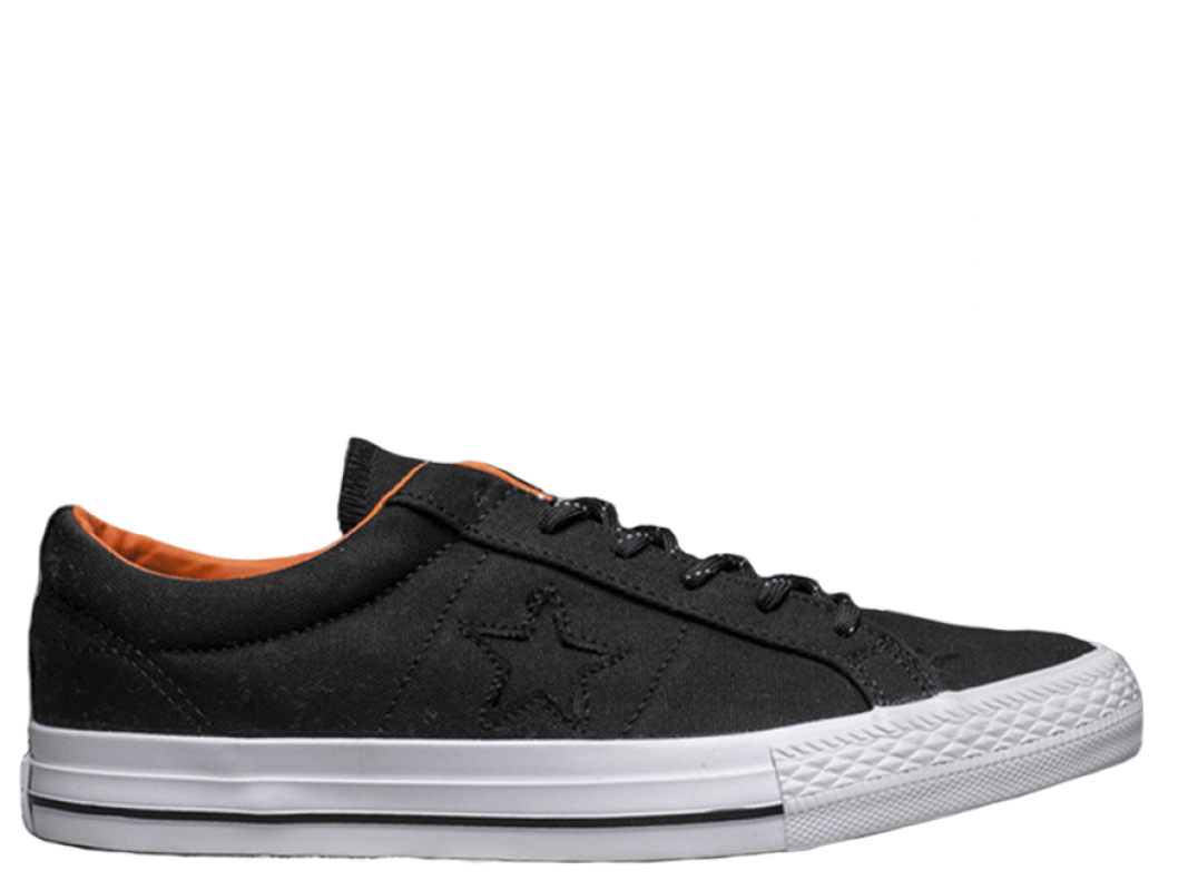 Cons Black&Orange Low Top