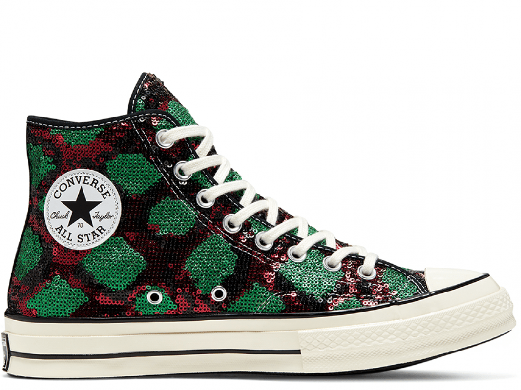 Chuck 70 Snakequins Green Hi Top