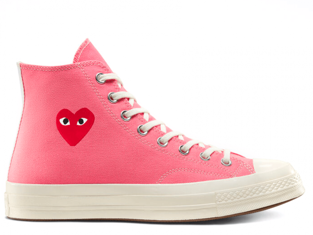 Comme Des Garcons Strawberry Pink High