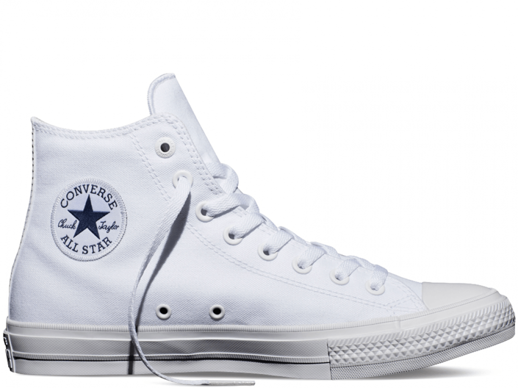 Chuck II Mono White High