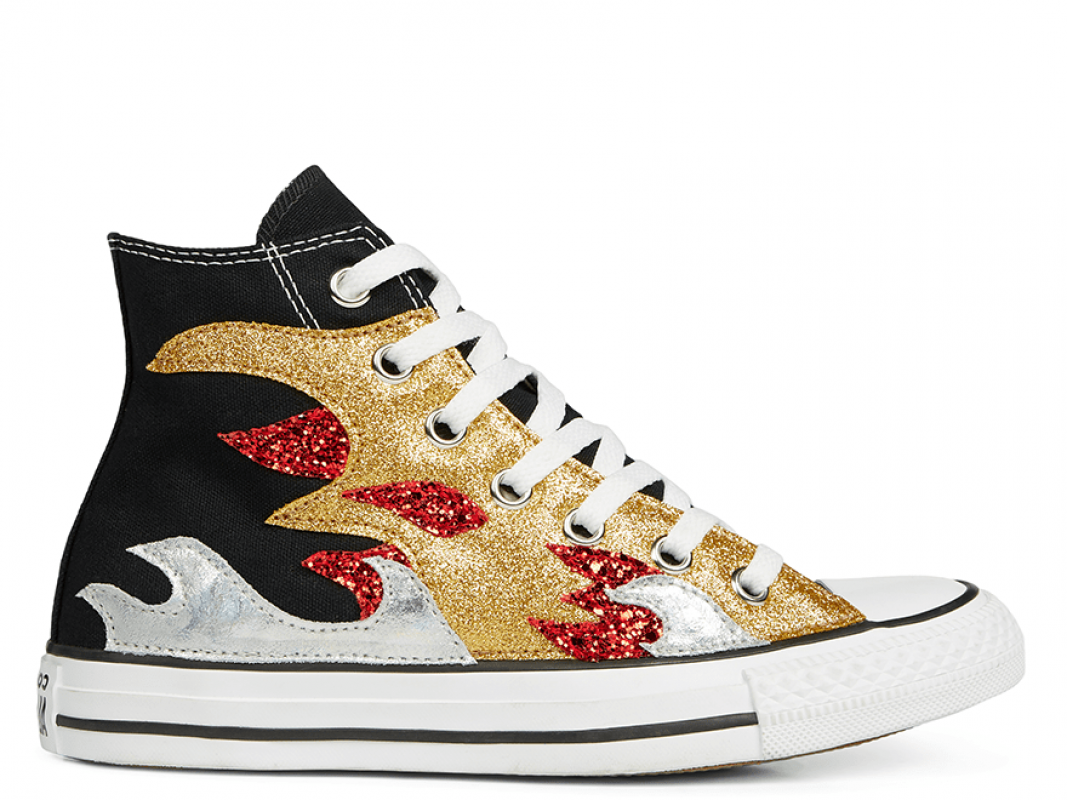 All Star Glitter Flame High Top