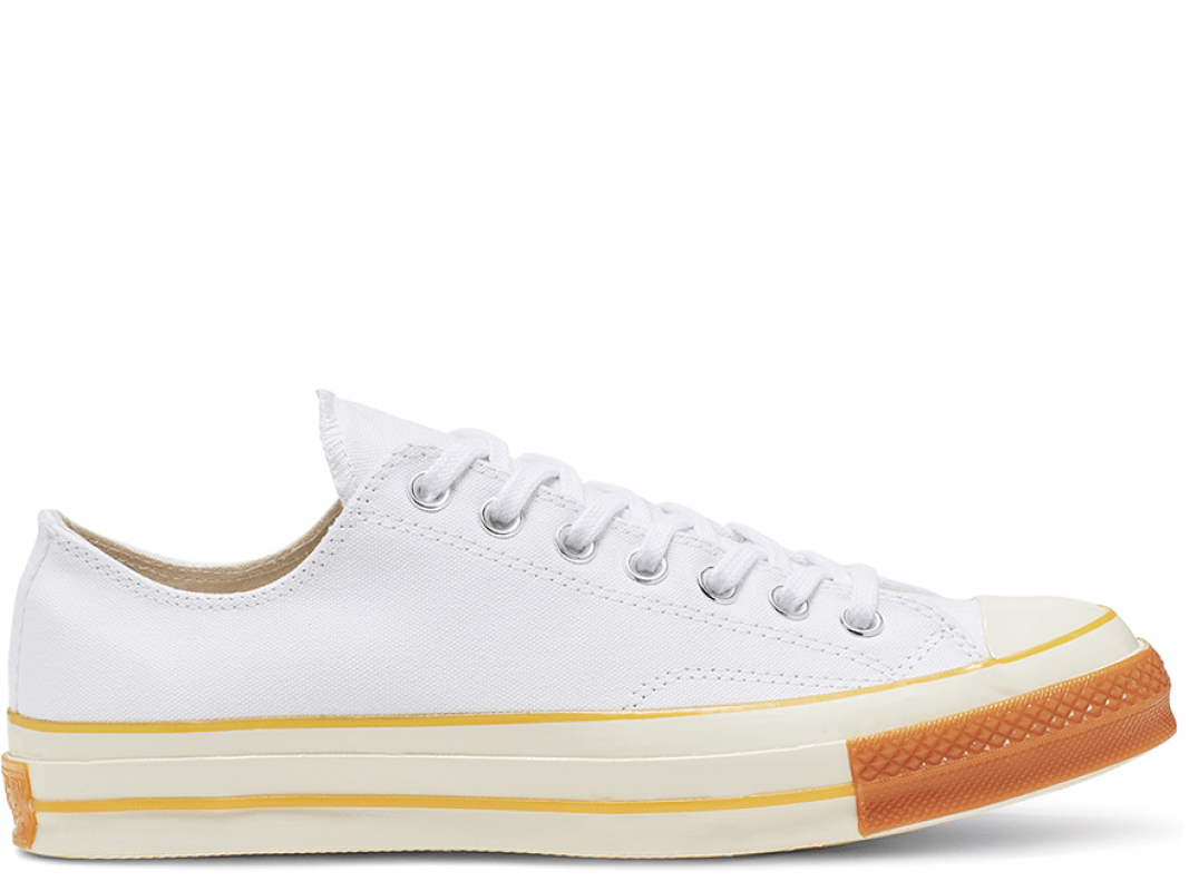 Chuck 70 Pop Toe White Low Top