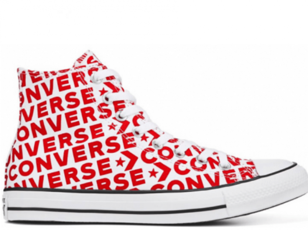 All Star White Red Logo High