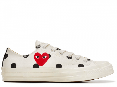 CDG Polka Dot White Low