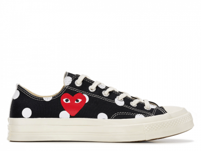 CDG Polka Dot Black Low