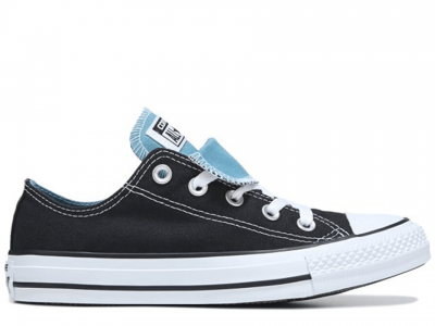 All Star Double Tongue Black Mint Low
