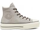 All Star Sherpa Chuck Platform Grey High Top