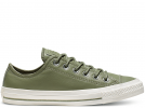All Star Leather Olive Low Top