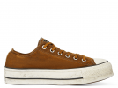 All Star Canvas Rust Platform Brown Low Top