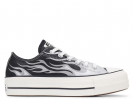 All Star Platform Metallic Flame Low-Top