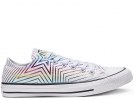 All Star Exploding Star White Low Top